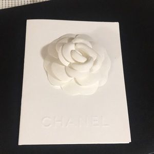Chanel Large Receipt Card with Flower